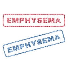 Emphysema textile stamps vector