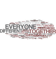 Everyone word cloud concept vector