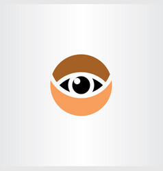 eye logo symbol circle icon clip art element vector image