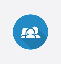 Family Flat Blue Simple Icon with long shadow vector