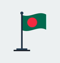 flag of bangladesh flag stand vector image