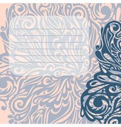 Floral design element vintage style vector image