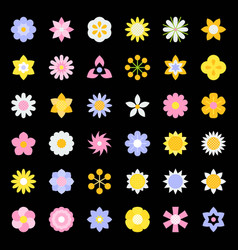 flower and floral logo icon isolated flat design vector image