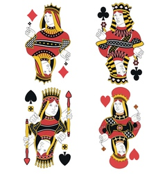 Four Queens no card vector image