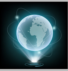 globe of planet earth vector image
