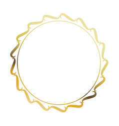 golden round frame element vintage stamp blank vector image