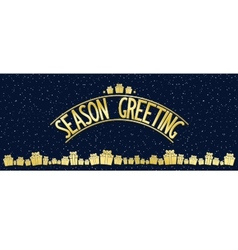 Greeting card with gold lettering design vector