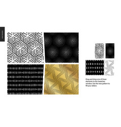 hand drawn patterns - pieces vector image