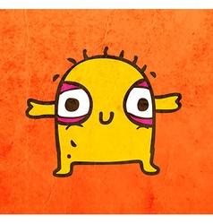 Happy alien cartoon vector