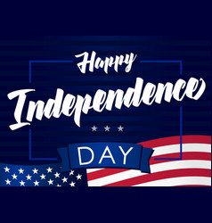 happy independencel day 4 july navy blue banner vector image
