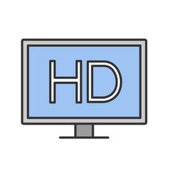 hd display color icon vector image