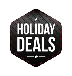 Holiday Deals patch vector