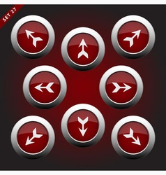 icons with arrows - eight directions vector image
