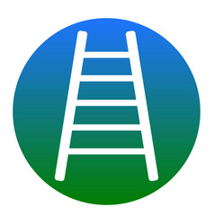 ladder sign white icon in vector image