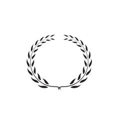 laurel wreath graphic design template vector image
