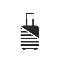 Logo of luggage wrapped by protective coating vector