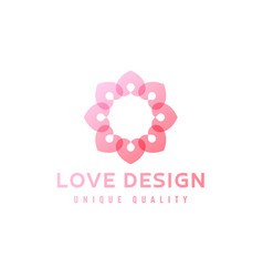 love design abstract flower in vector image