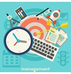 Management Concept Banner vector image