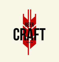 Modern craft beer drink logo vector
