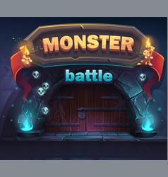Monster battle gui boot window vector
