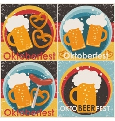 Oktoberfest backgrounds set vector image