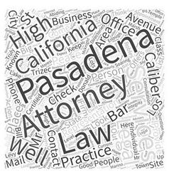 Pasadena Attorney Services Directories Word Cloud vector