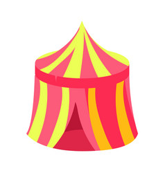 Pink and yellow circus kiosk canopy fairy tale vector