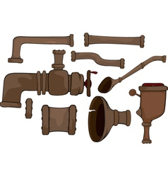 Pipes set vector