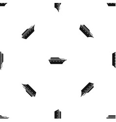 Powerboat pattern seamless black vector