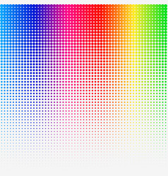 Rainbow colored halftone abstract template vector