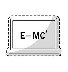 Relativity theory equation math icon image vector