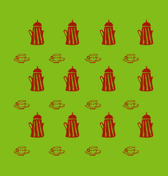 retro object patterns for making seamless vector image