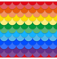 Scales rainbow seamless texture vector image