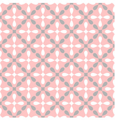 seamless white grey and pink pattern vector image