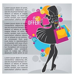 Shopping banner vector