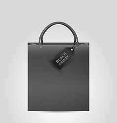 Shopping paper bag and black friday vector