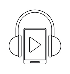 smartphone player music headphones technology vector image