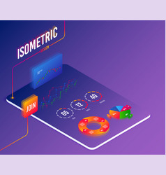 software or financial markets analytics concept vector image