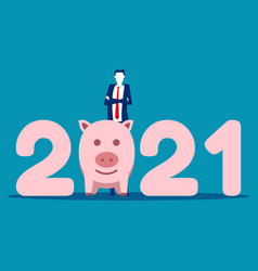 stand number 2021 money saving in 2021 vector image