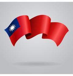 Taiwan waving Flag vector