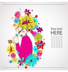 Woman with flowers vector image