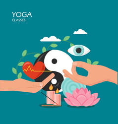 yoga classes flat style design vector image