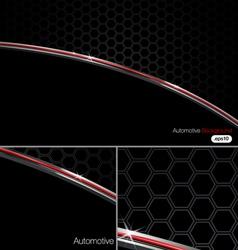 Black n Chrome Automotive Background vector image