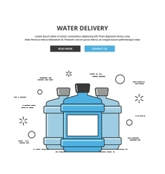 Water delivery web banner Thin line vector image