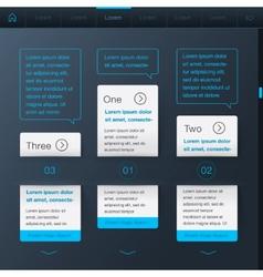 Website design dark template vector image vector image
