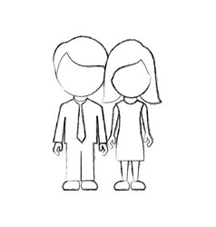 figure couple sticker icon vector image vector image