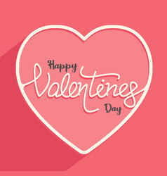 happy valentines day with couple for banner vector image
