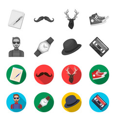 hipster fashion style subculture hipster style vector image