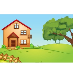 House in nature vector image vector image