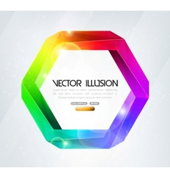 Impossible figure Colorful vector image